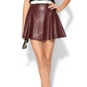 Willow & Clay Red Pleather Pleated Mini Skirt